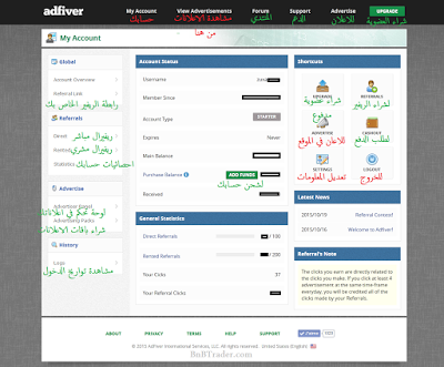 موقع AdFiver الربح مشاهدة الاعلانات