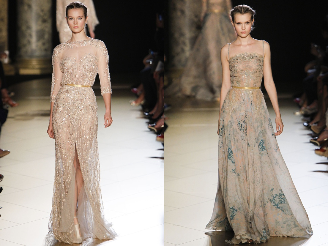 Elie saab gowns collection at paris haute couture fashion for Hout couture