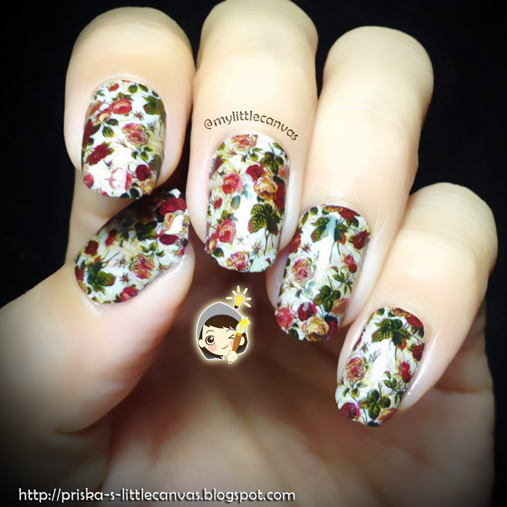 Nails by @mylittlecanvas : everybody loves flowers !
