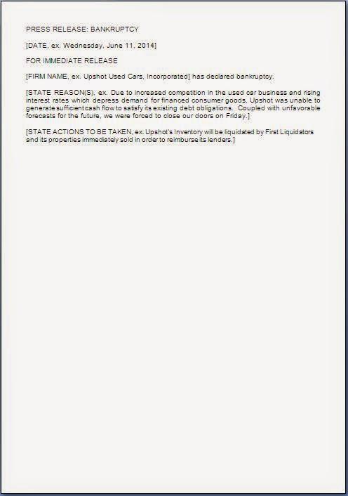 bankruptcy declaration format