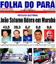 NOVA EDIÇÃO DO FOLHA DO PARÁ - HOJE NAS BANCAS