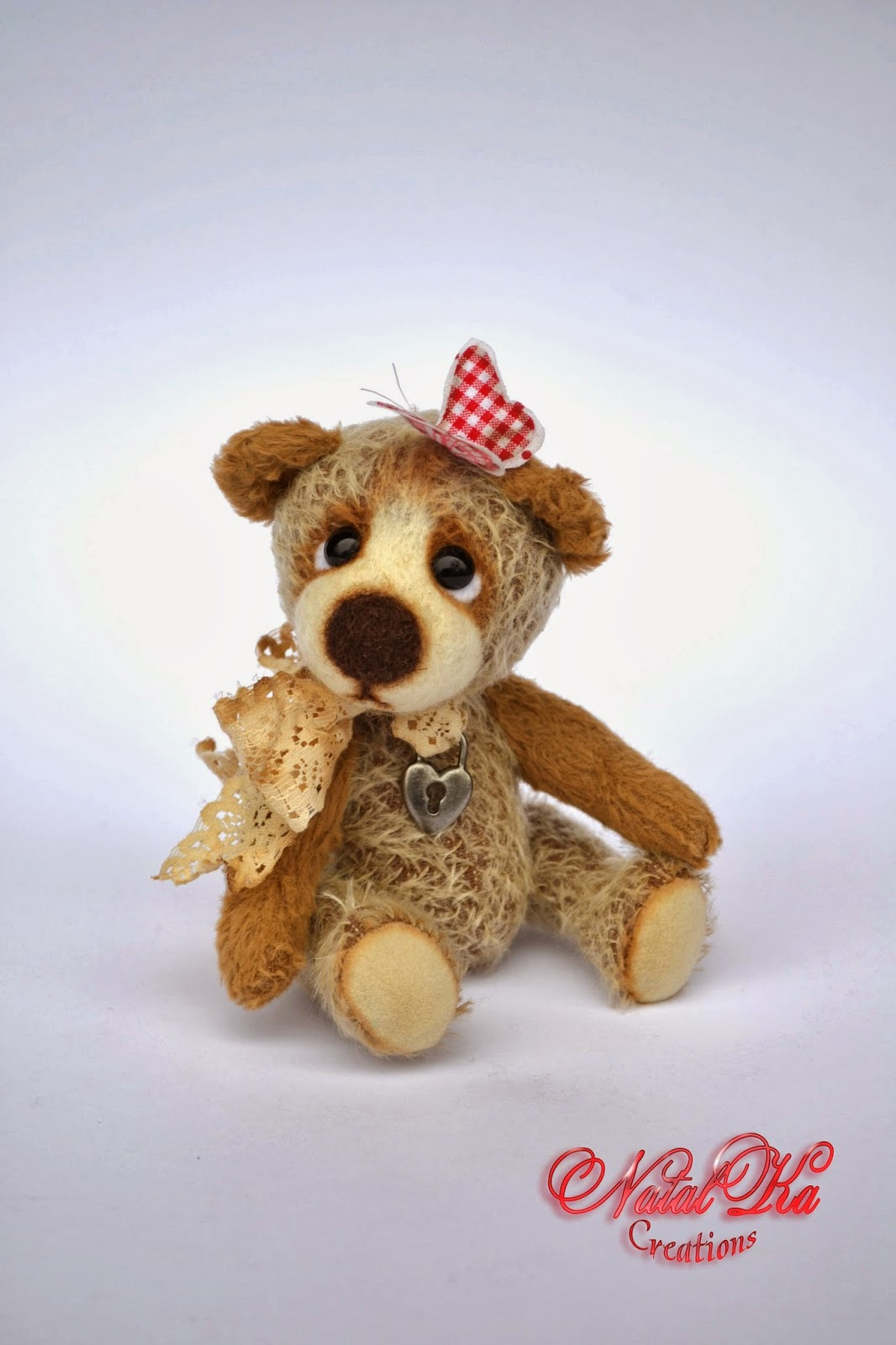 Авторский мишка тедди ручной работы от NatalKa Creations. Artist teddy bear handmade by NatalKa Creations