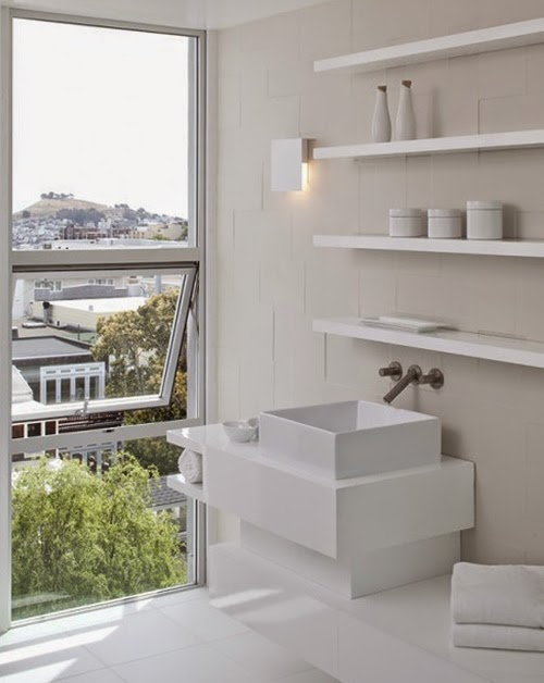 Decotips deja los estantes flotantes y reinventa tus - Estanterias blancas de madera ...