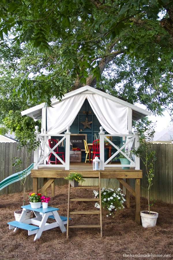shed turned kids play space