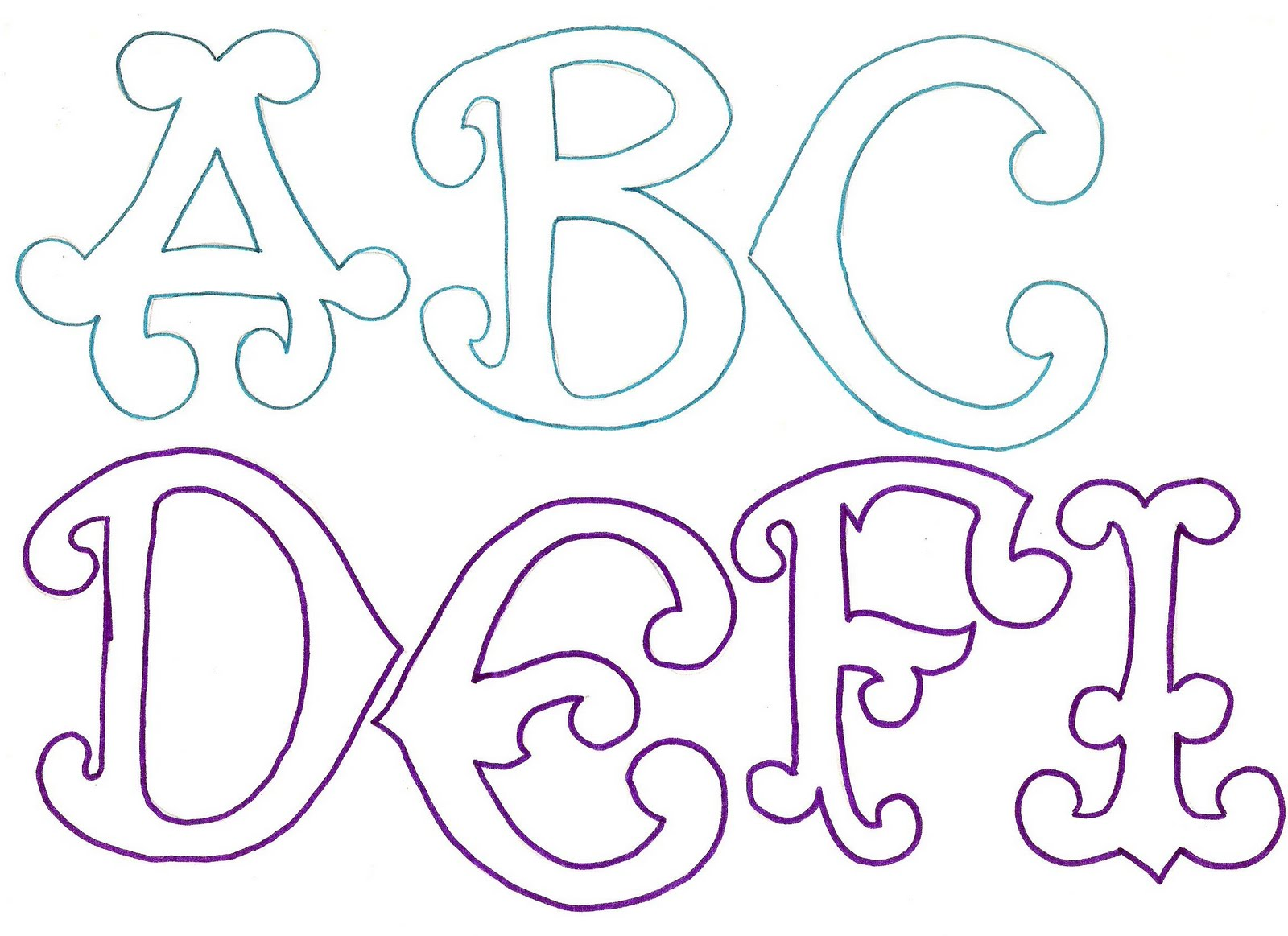 Maestroscomot letras curvas for Moldes para pavimentos de hormigon