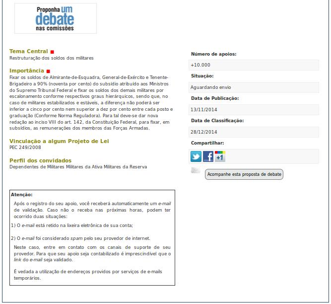 http://www12.senado.leg.br/ecidadania/visualizacaopropostaaudiencia?id=15161