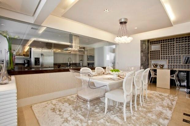 Sala De Jantar Decorada Com Tapete ~ Decore Sua Mente, Seu Corpo E Seu Espaço Salas de Jantar Brancas com