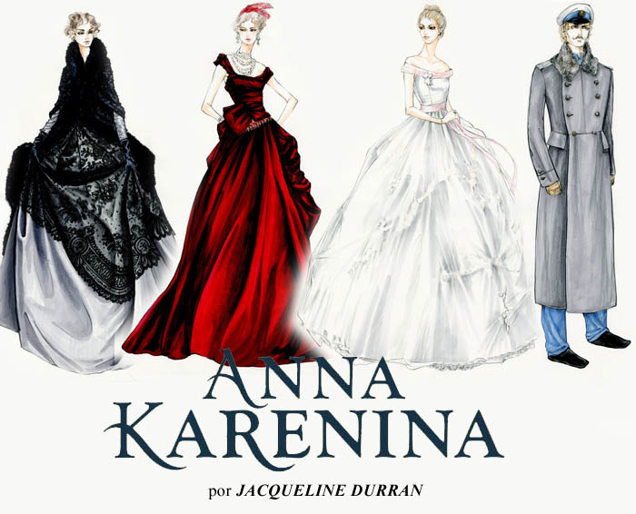 FIGURINOS DO PASSADO_melhor figurino_Anna karenina_Jacqueline Durran_desenhos dos figurinos_croqui