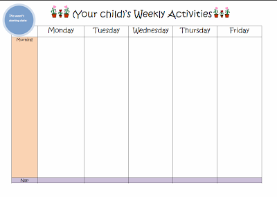 Learn with Play at Home: Weekly Kids Activity Planner