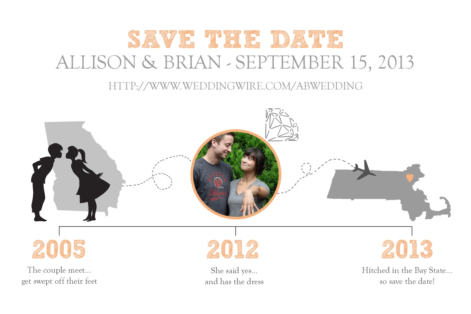 Timeline Save The Date Design