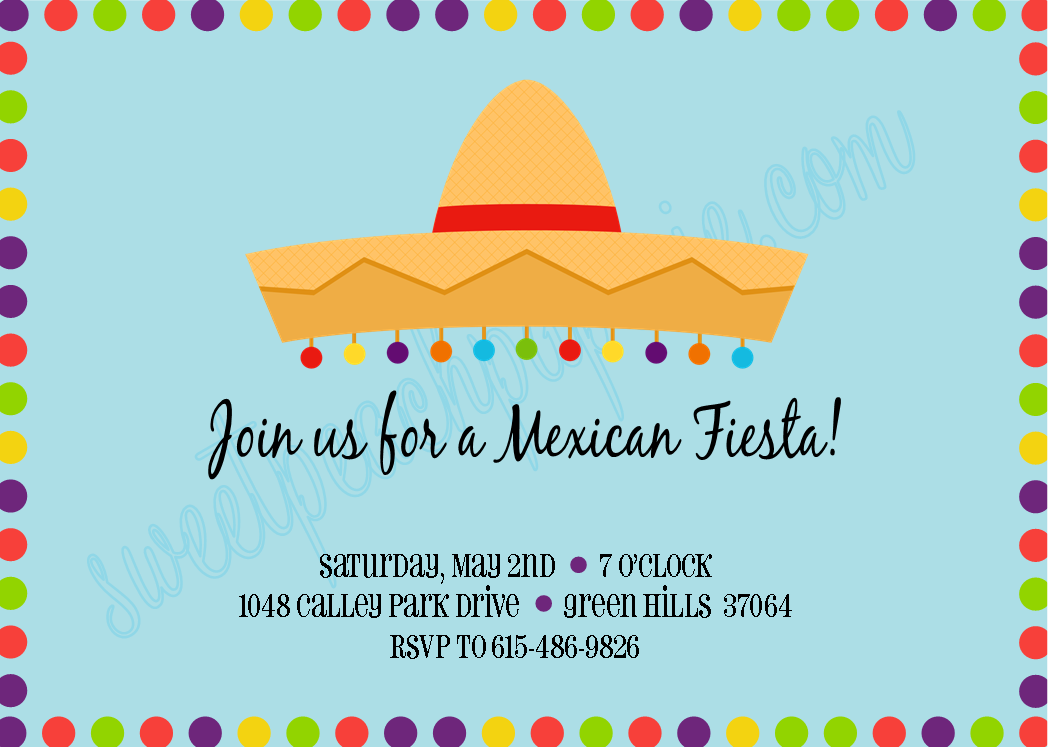 The Sweet Peach Paperie Mexican Fiesta Invitations
