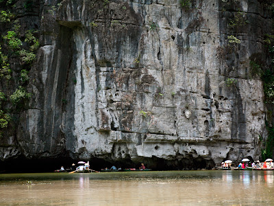 Entrance to the caves of Tam Coc