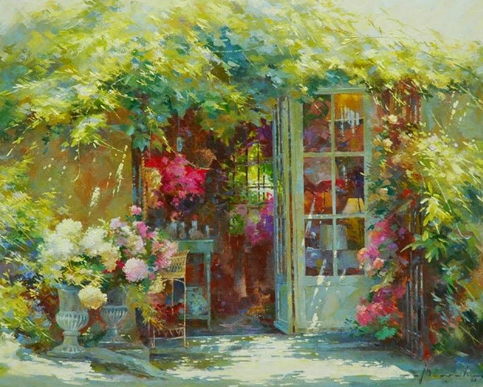 pinturas-de-jardines-y-flores