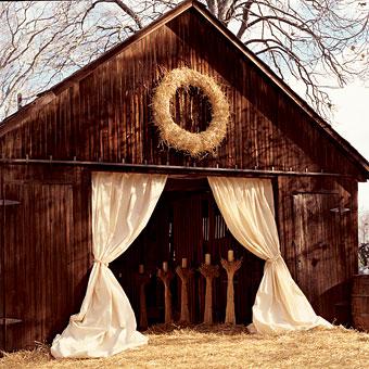Rustic Country Wedding Ideas Barn Backdrop