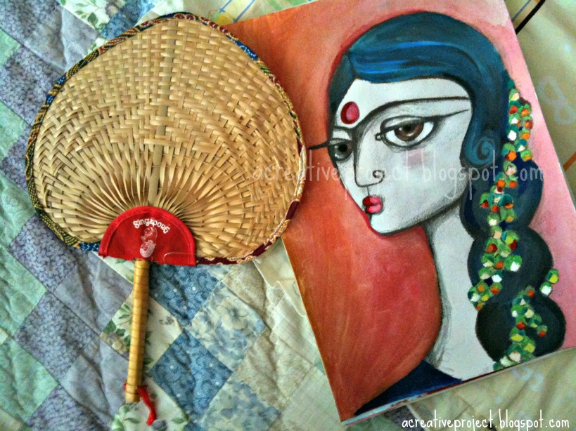 A Creative Project New Painting Gajrewaligirl With Flower Garland