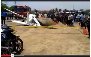Rakaman Video Kejadian Pesawat Terhempas Di Kota Bharu