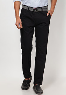 Black Regular Fit Casual Trouser