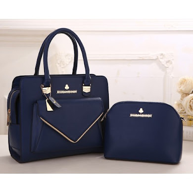 AAA WITH JESSICA MINKOFF LOGO (NAVY BLUE)