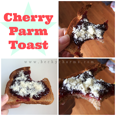 Cherry Preserves and Parmesan Toast by BeckyCharms & Co.