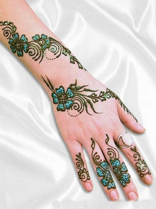 Indian Dulhan Mehndi design wid color