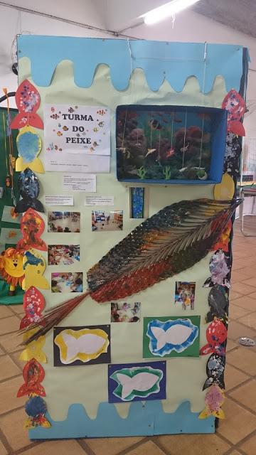 Painel da turma do Peixe para a Festa da Família