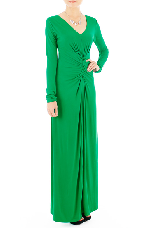 Sophistique Long Sleeve Maxi Dress – Emerald Green