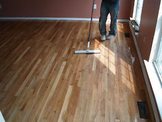 Apply oil-based polyurethane - Hardwood Floor Recoating - New Jersey NJ