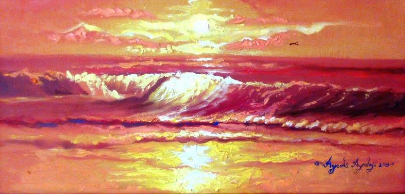 seascape panting by ayeola ayodeji abiodun