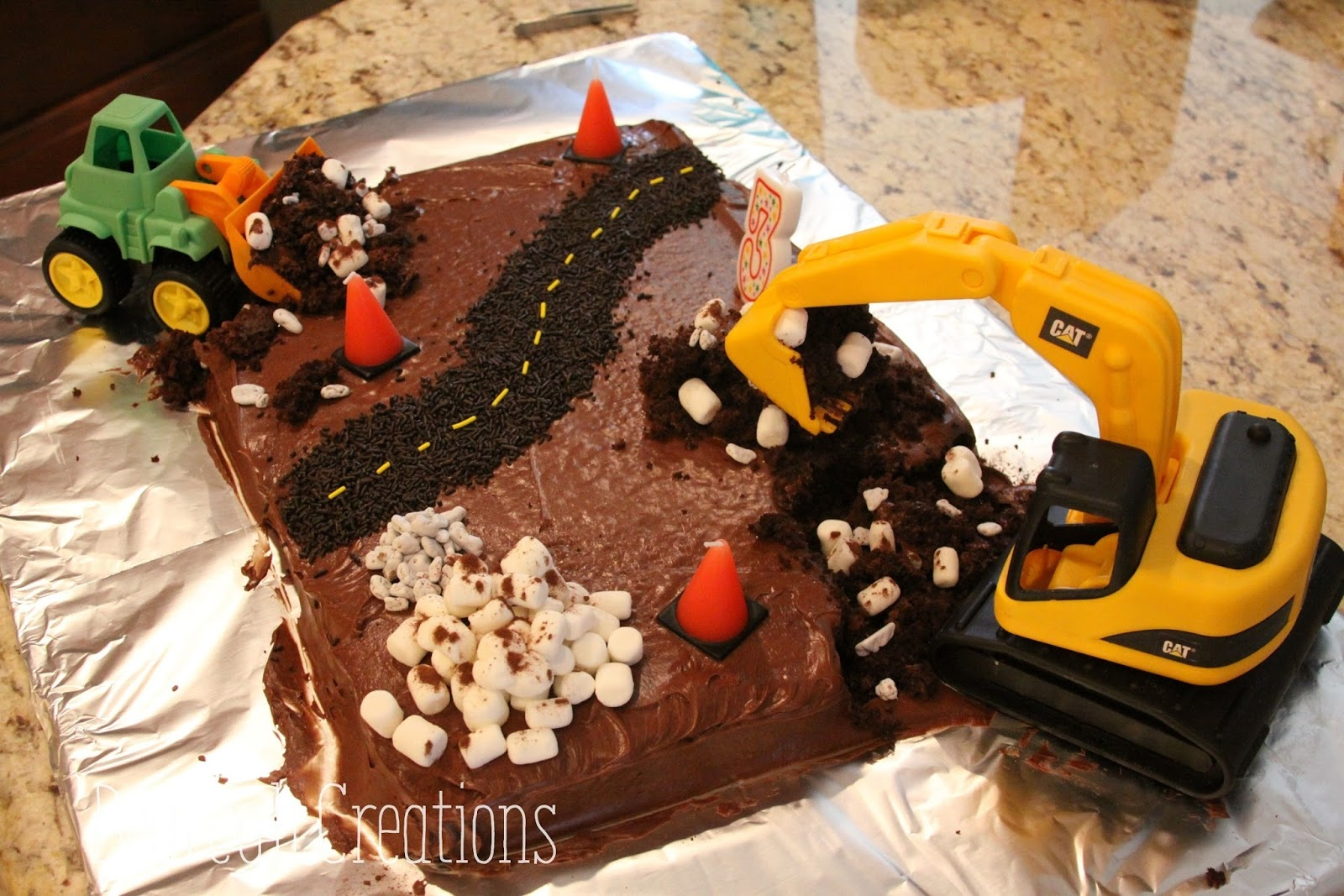 Bearcub Creations Construction Birthday Cake