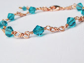 Blue Zircon Copper Bracelet