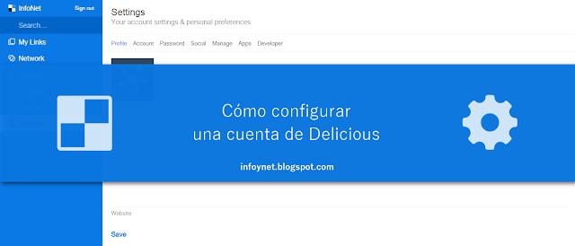 Cómo configurar una cuenta de Delicious
