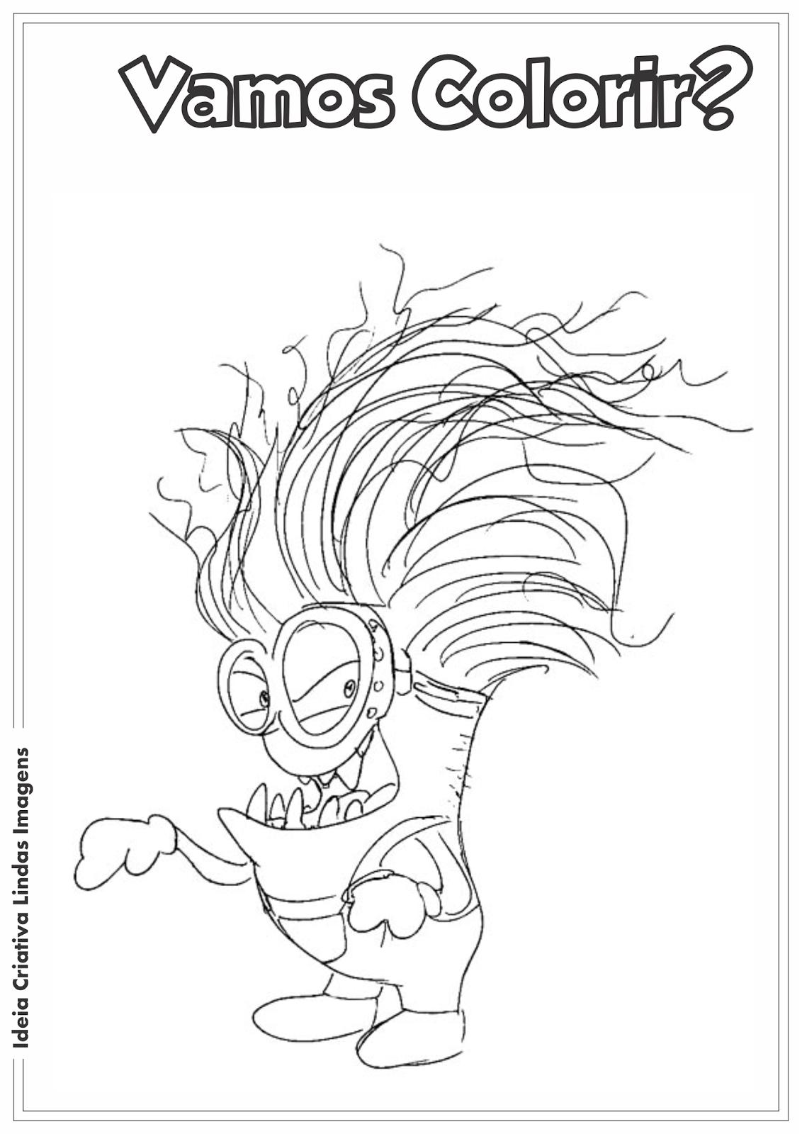 Meu Malvado Favorito 2 - Minion Malvado desenho para colorir