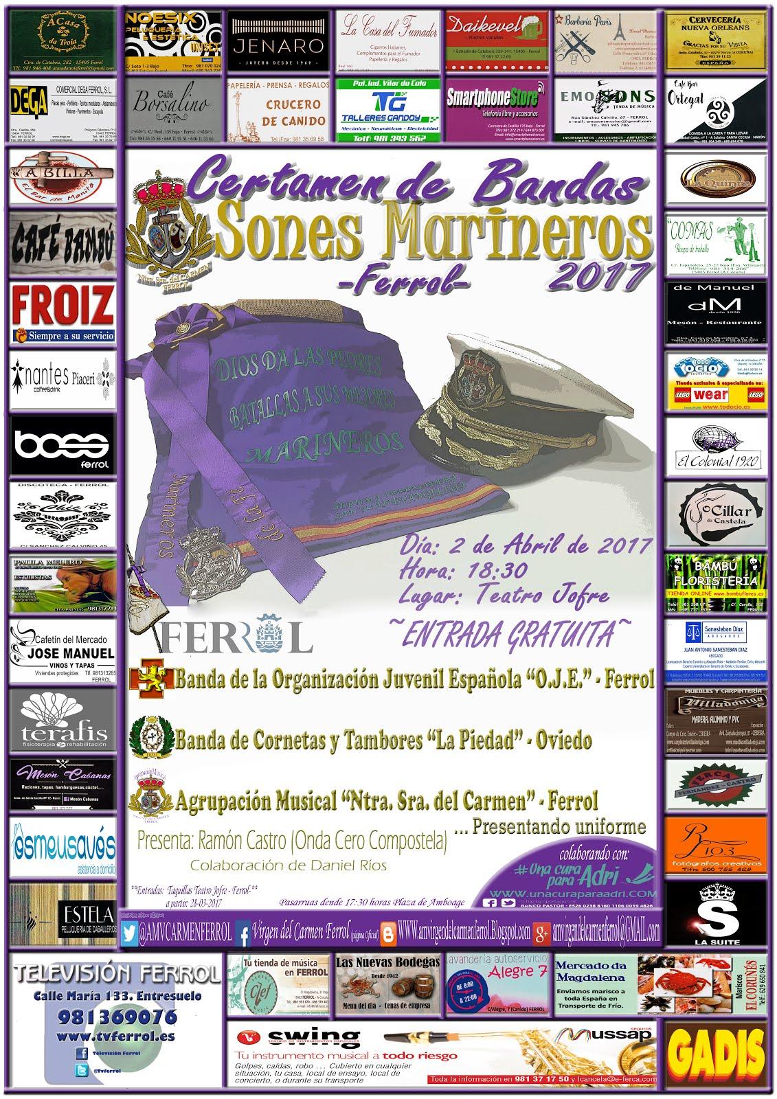 """Certamen Nacional de Bandas """"Sones Marineros 2017"""""""