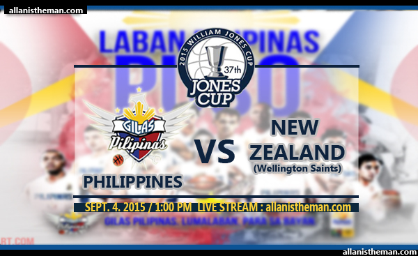 JONES CUP 2015: Gilas Pilipinas vs New Zealand FREE LIVE STREAMING
