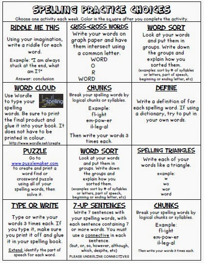 http://www.teacherspayteachers.com/Product/Spelling-Menu-2-5-Grade-1191225