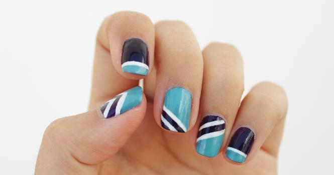 color block nails nail art fail
