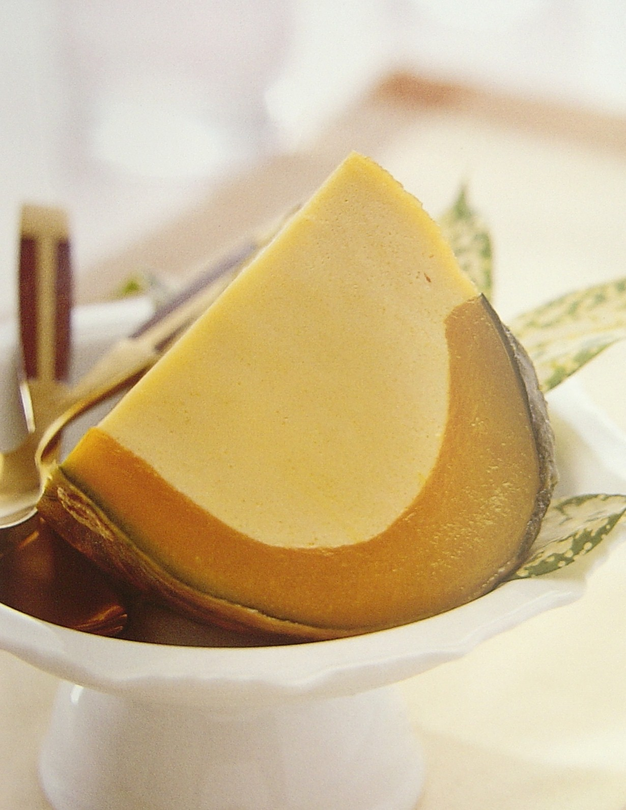 Thai Dessert Recipes: Coconut custard in pumpkin (sangkhaya fak thong)