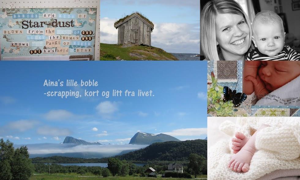 Aina's lille boble -scrapping,kort og litt fra livet♥