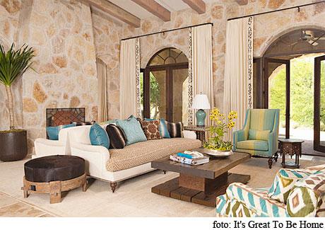 Elena anuskan interior design el estilo r stico en im genes - Decoracion de salones rusticos ...