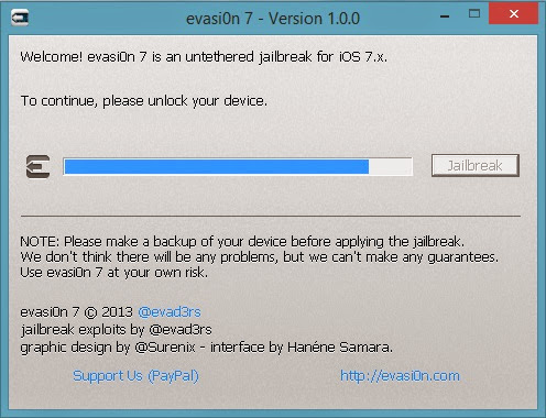Evasi0n7 Jailbreak : Cydia Apple