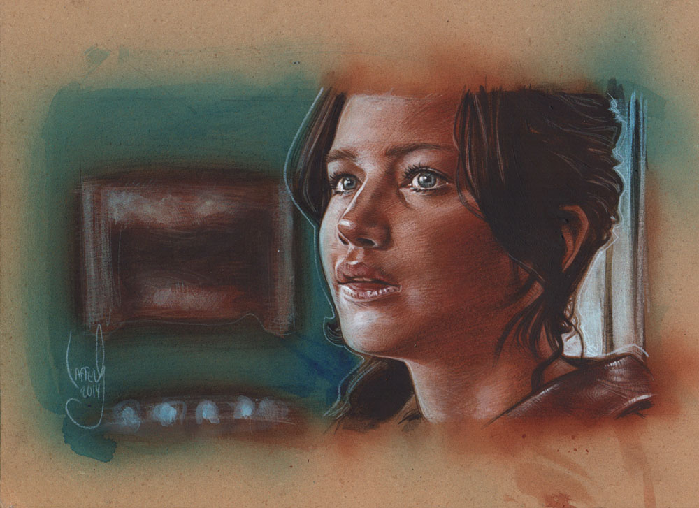 Jennifer Lawrence, Katniss Everdeen, Artwork is Copyright © 2014 Jeff Lafferty