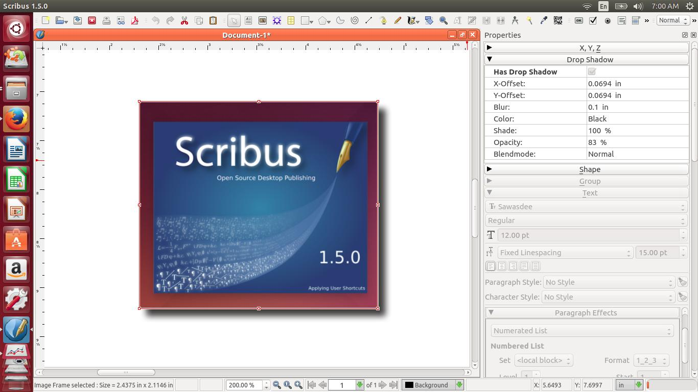A Short Review for Scribus 1.5