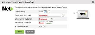 Membuat virtual kartu kredit vcc gratis dengan Neteller