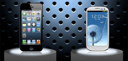 iphone vs android, iphone 5 vs samsung galaxy s 3, adu handphone android vs iphone terbaru, pilih iphone apa android?
