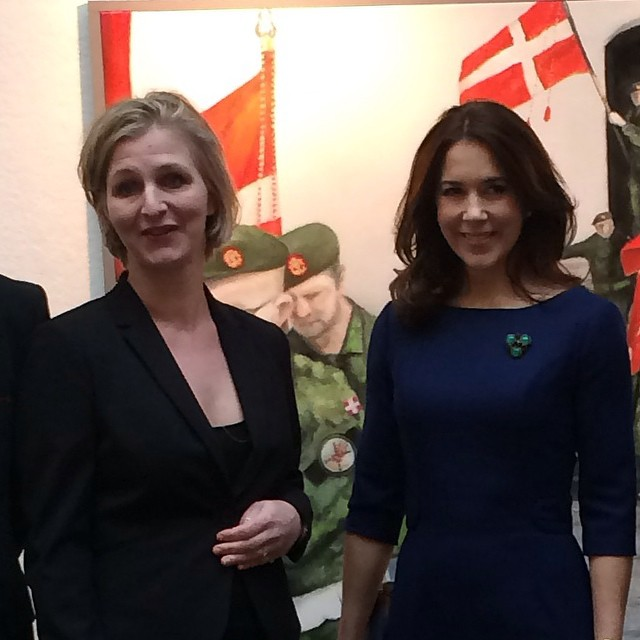 Crown Princess Mary of Denmark attended the opening of the Home Guard's painting exhibition