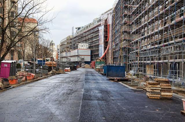 Baustelle Quartier am Leipzigerplatz, Leipziger Straße, Voßstraße, 10117 Berlin, 22.12.2013