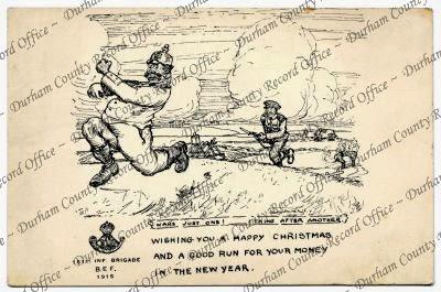 Brigade Christmas card (D/DLI 7/776/36)
