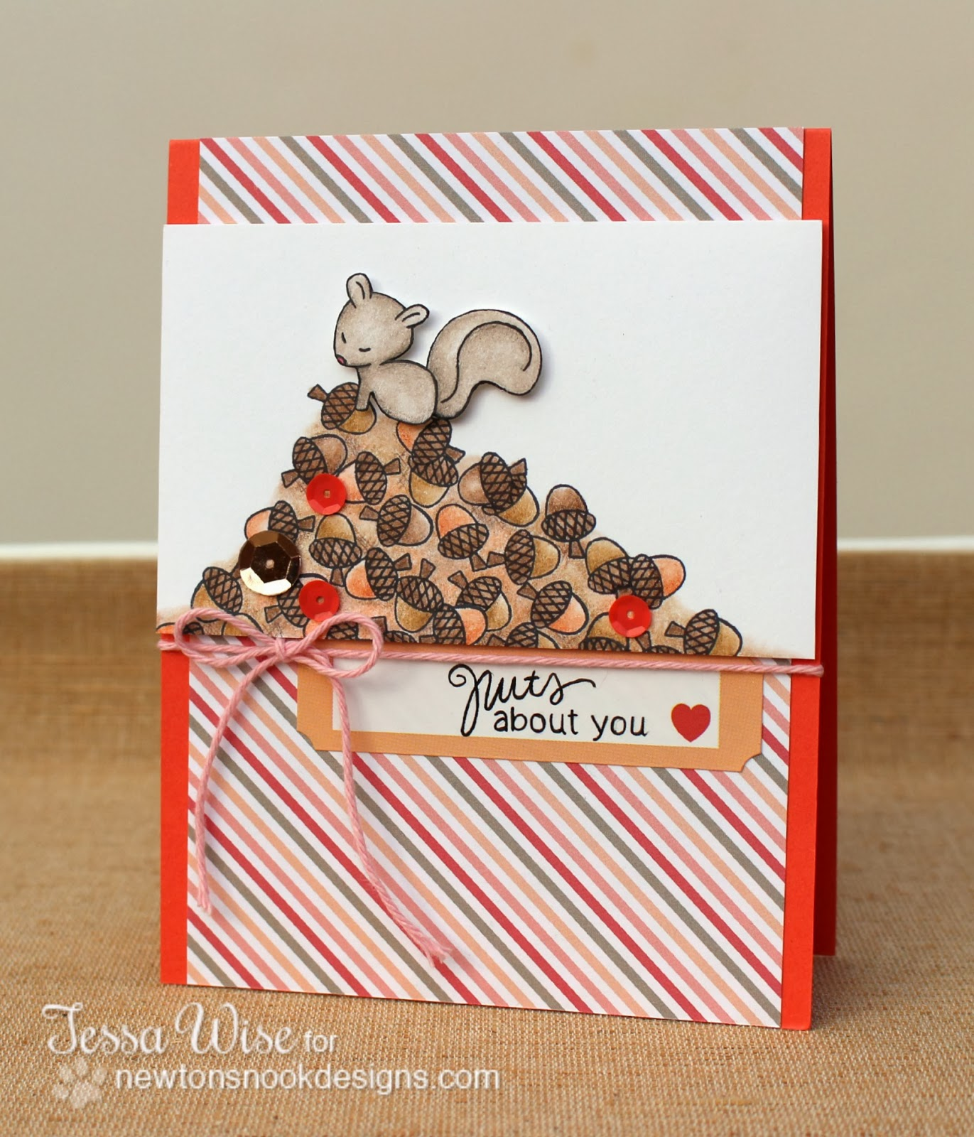 Valentine by Tessa Wise using Sweetheart Tails Stamp set by Newton's Nook Designs