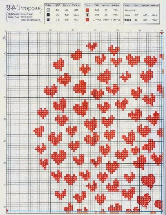 Sara Craftroom79 Schema Punto Croce San Valentino