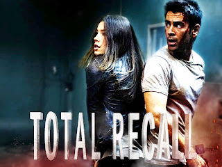 Total Recall Jessica Biel and Colin Farrell Poster HD Wallpaper